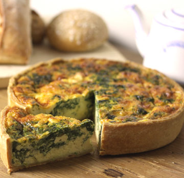 Quiche m/spinat & feta
